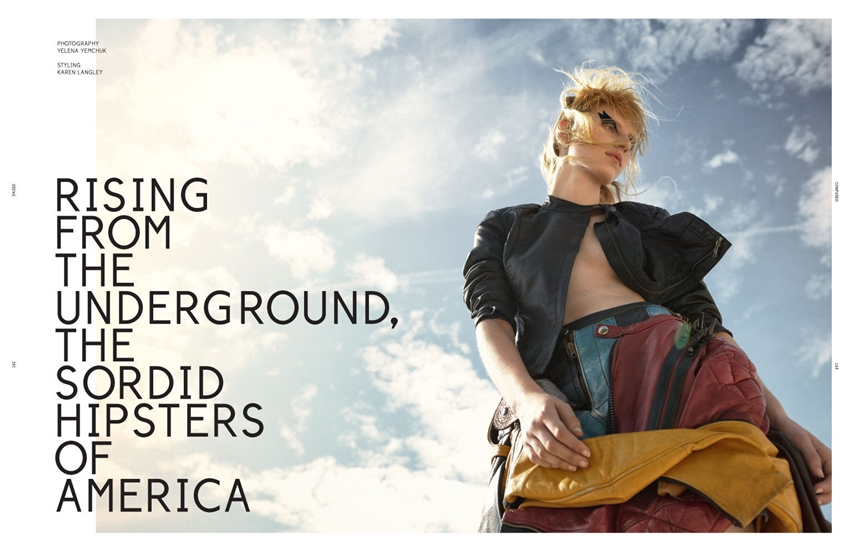 Dazed & Confused October 2012 %22Rising From The Underground, The Sordid Hipsters Of America%22 Feat. Julia Nobis by Yelena Yemchuk 1