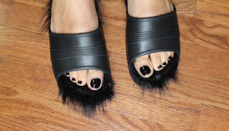 Celine-DIY-fur-sandals-Bye-Bye-Soccer-Mom