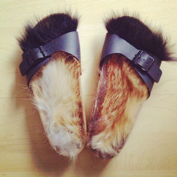 DIY-Celine-fur-sandals-by-Everything-Laura