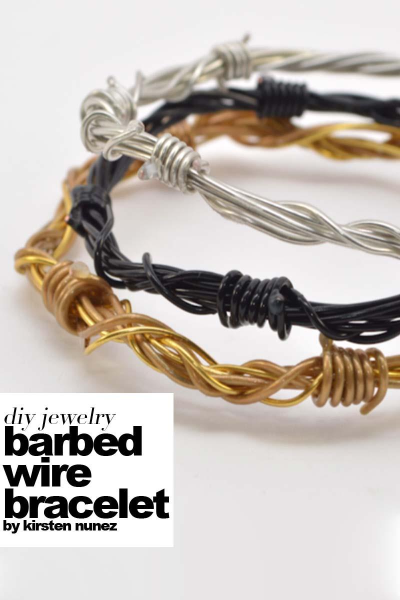 Diy Barbed Wire Bracelet Outi Les Pyy Outi Les Pyy