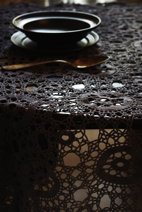 crochet doily tablecloth
