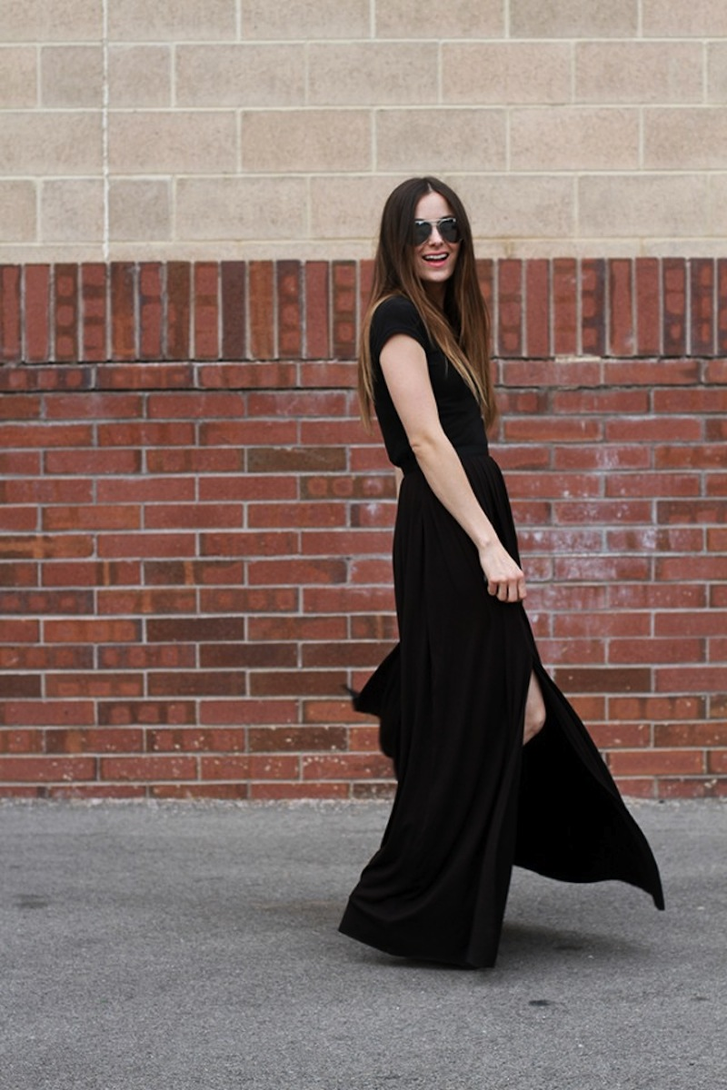 Maxi skirt with slits, tutorial by Cotton And Curls DIY blog 2