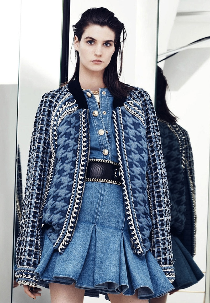 balmain_2014_women_denim_jacket_chain_resort_spr