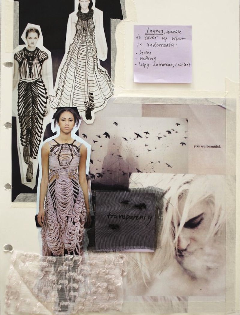 fashion drawing moodboard