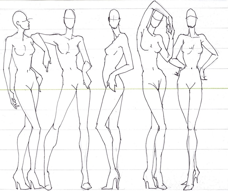 fashion drawing template poses
