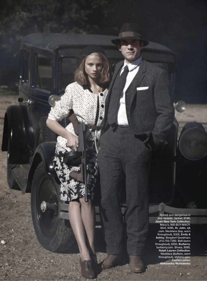 Anna Selezneva & Wes Bentley by Peter Lindbergh for Harpers Bazaar US March 2010 1