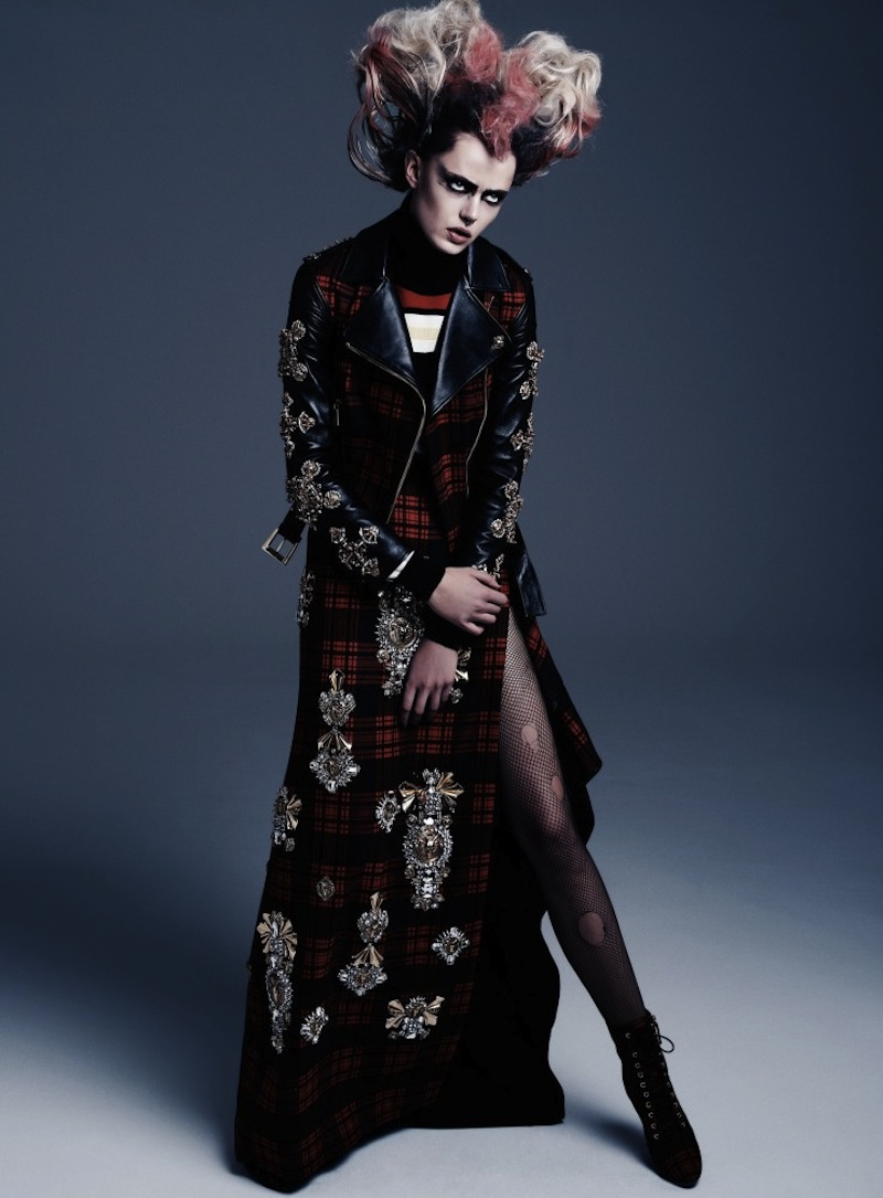 Frida-Gustavsson-by-Steven-Pan-Punk-Attitude-Flair-6-Fall-2013-6-735x997
