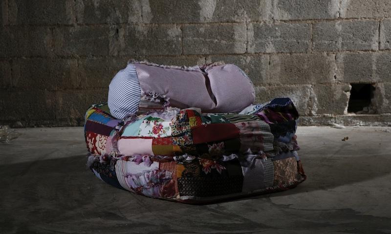 clothes bale chair