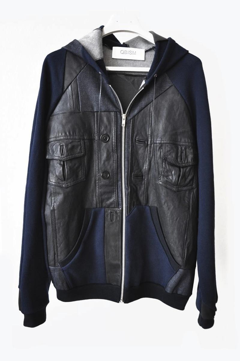 QBISM leather hoodie