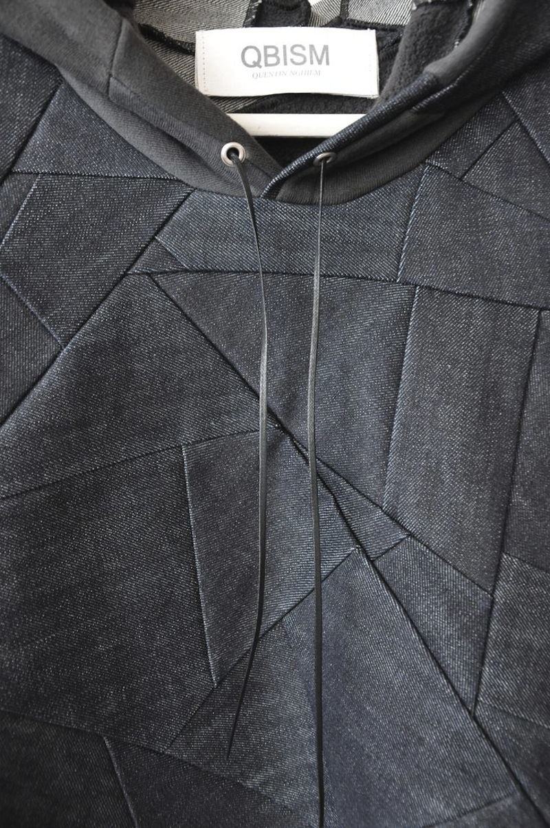 QBISM leather patch hoodie4