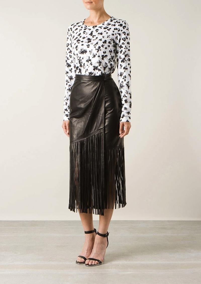 fringe leather skirt tamara mellon 3