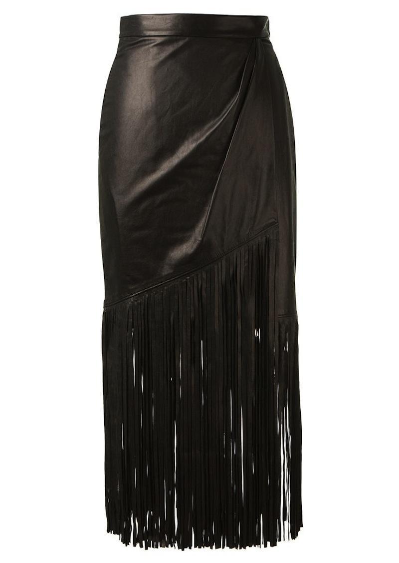 fringe leather skirt tamara mellon 5