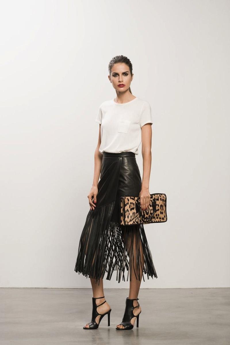 fringe leather skirt tamara mellon 6