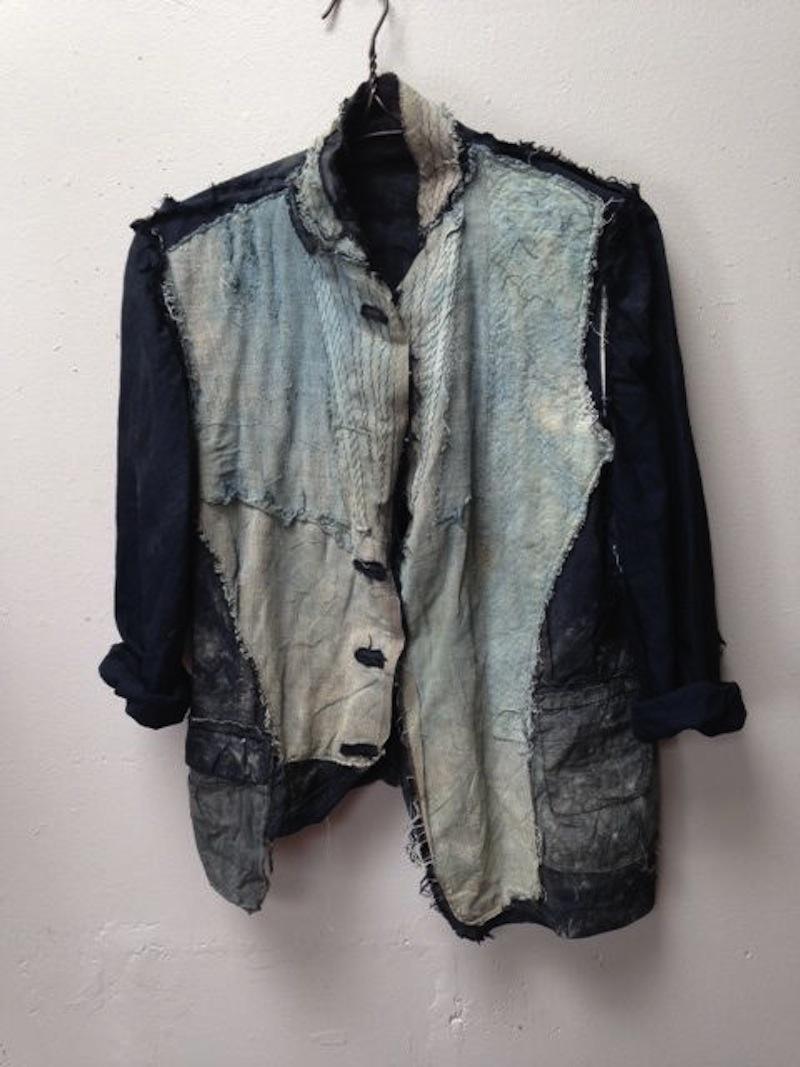 boro stitched denim jacket