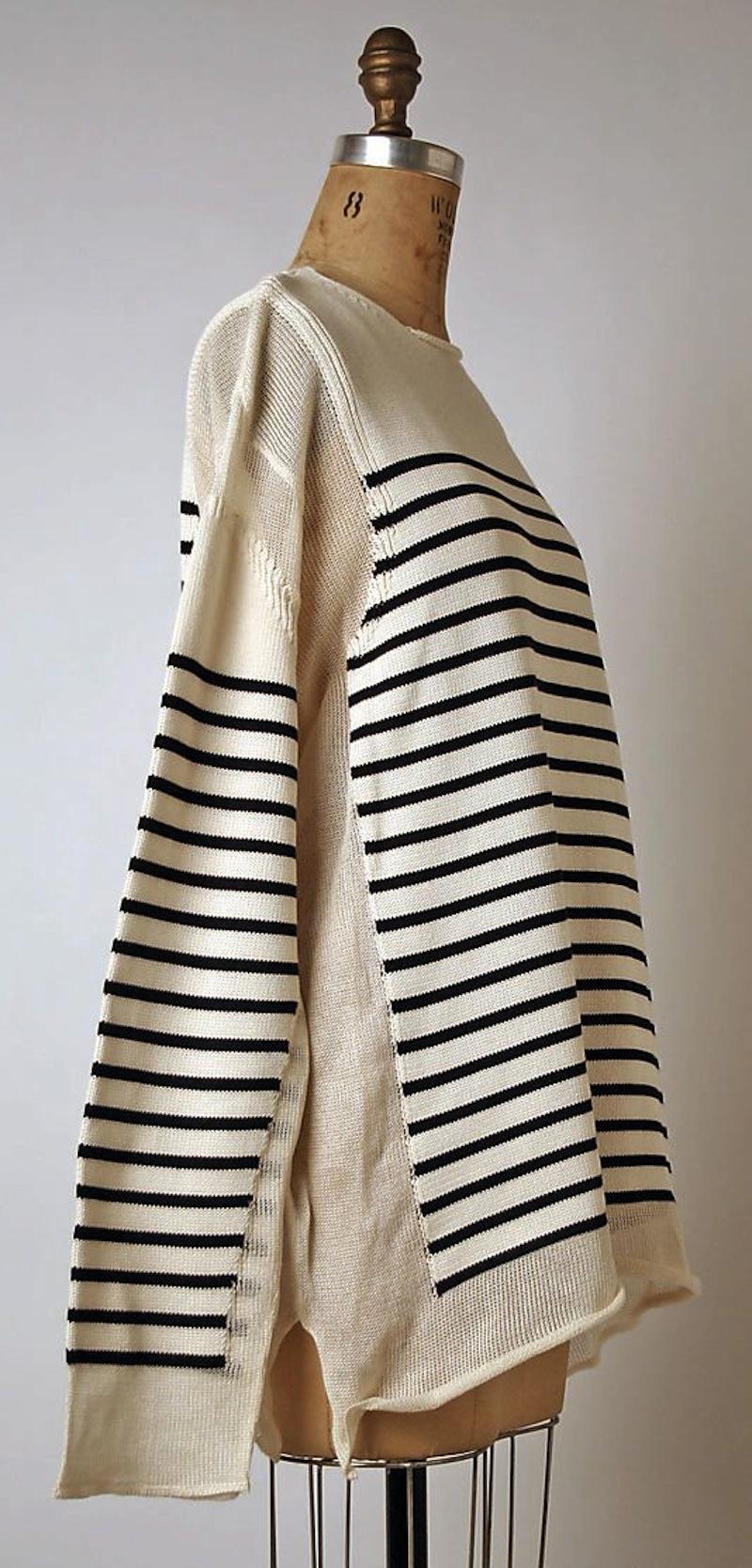 jean paul gaultier stripe knit