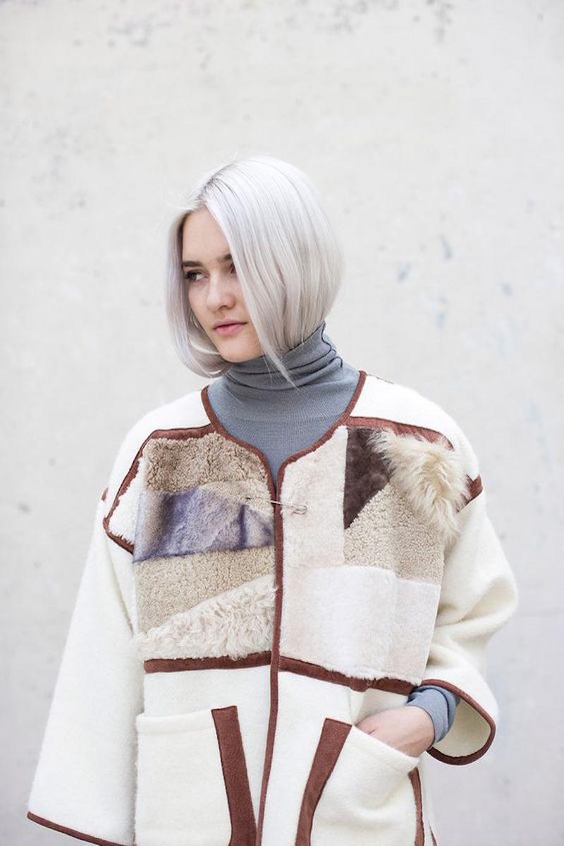 Milena Silvano fur shearing coat jacket 1