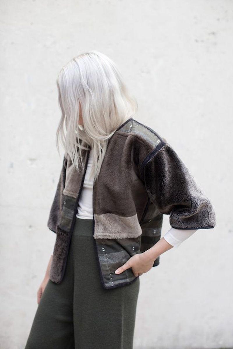 Milena Silvano fur shearing coat jacket 10