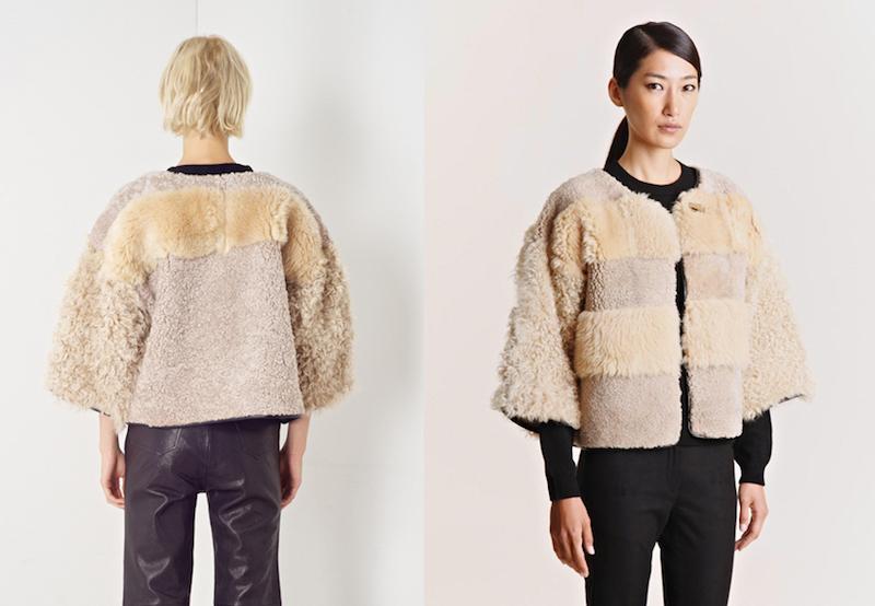 Milena Silvano fur shearing coat jacket 13