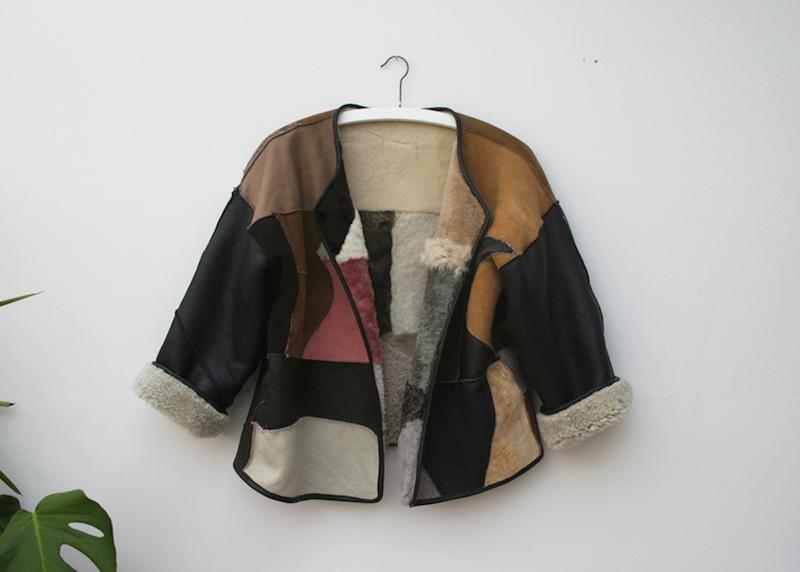 Milena Silvano fur shearing coat jacket 14