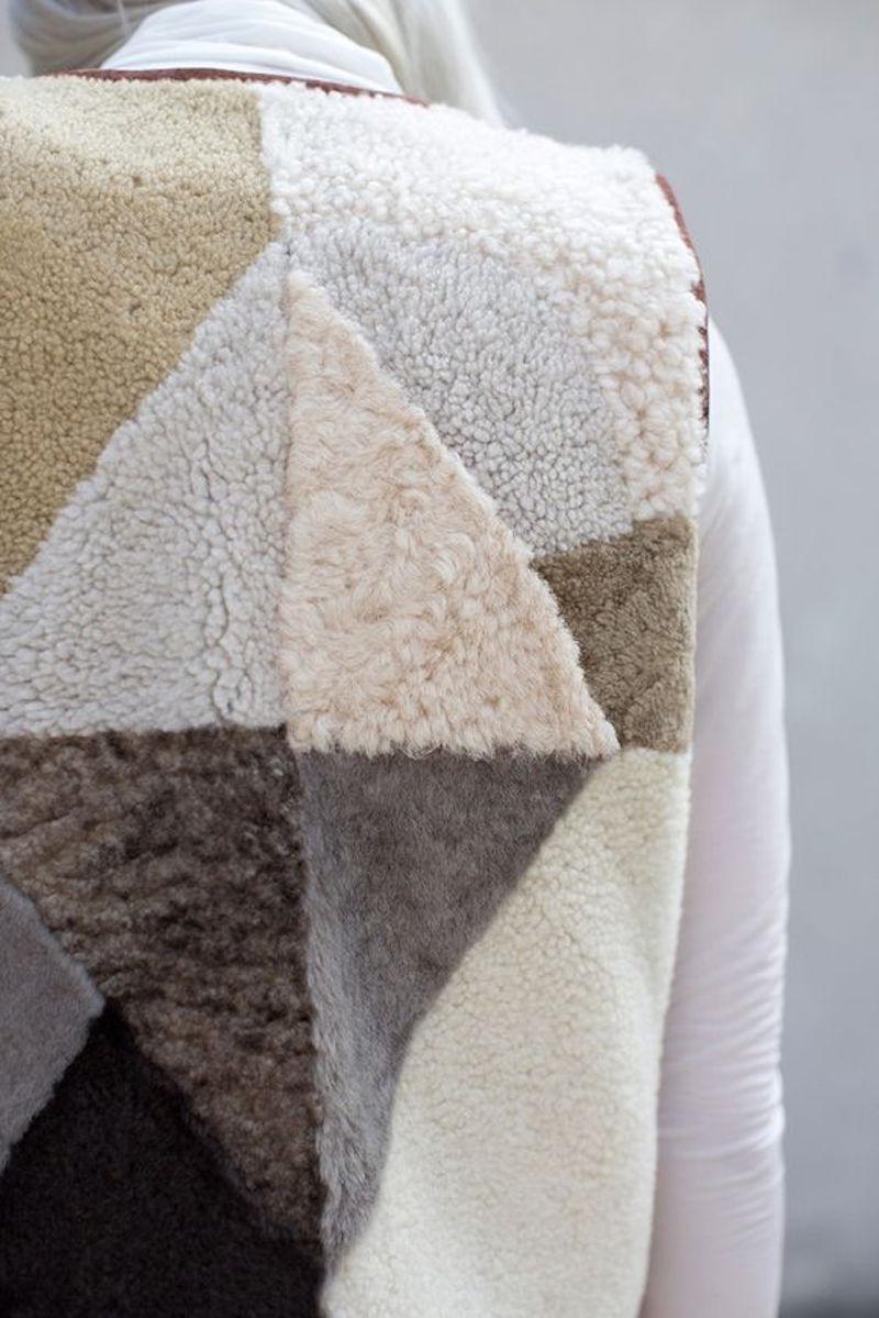Milena Silvano fur shearing coat jacket 5