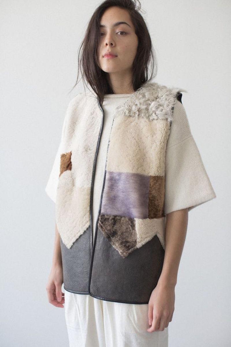 Milena Silvano fur shearing coat jacket 6