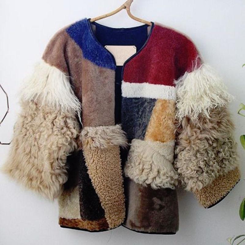 Milena Silvano fur shearing coat jacket 8