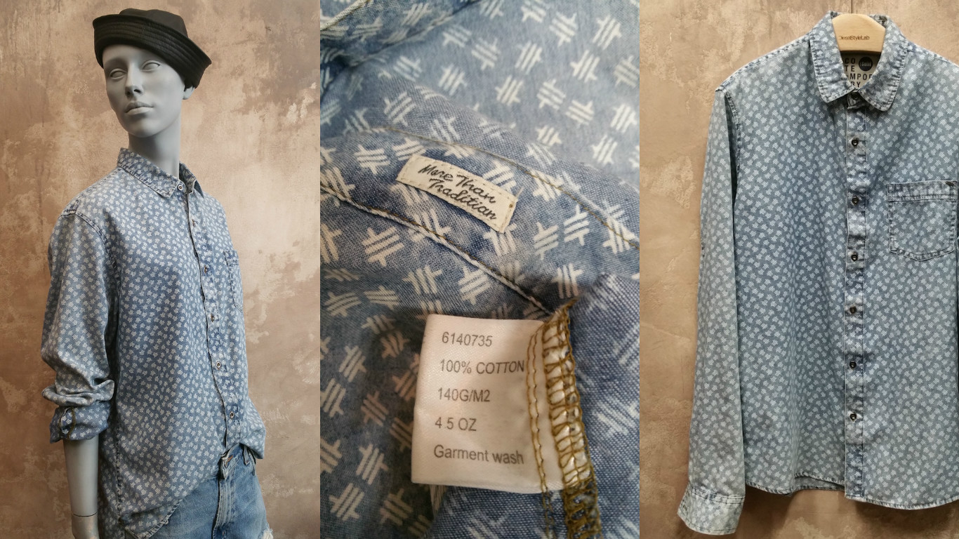Zadaa app denim shirt collage