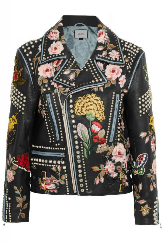 Gucci Hand-Painted Leather Biker Jacket 1