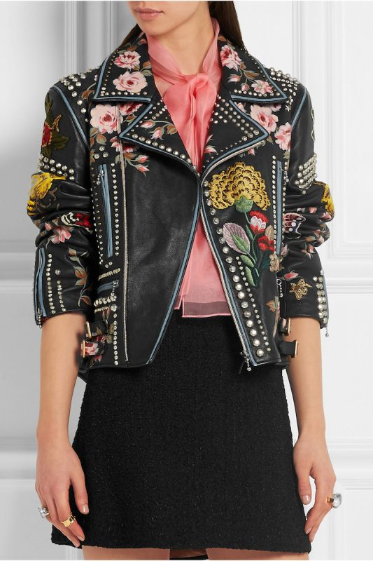 Gucci Hand-Painted Leather Biker Jacket 3