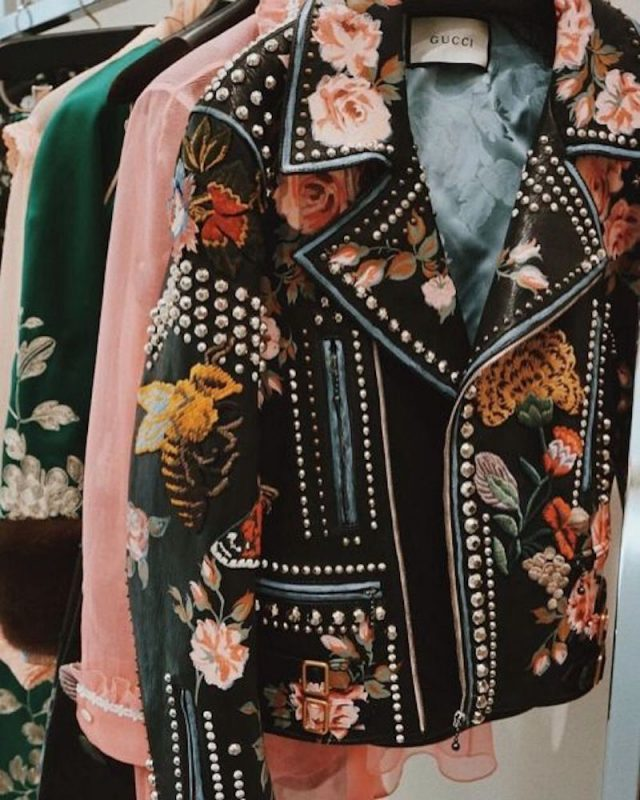 Gucci Hand-Painted Leather Biker Jacket 6