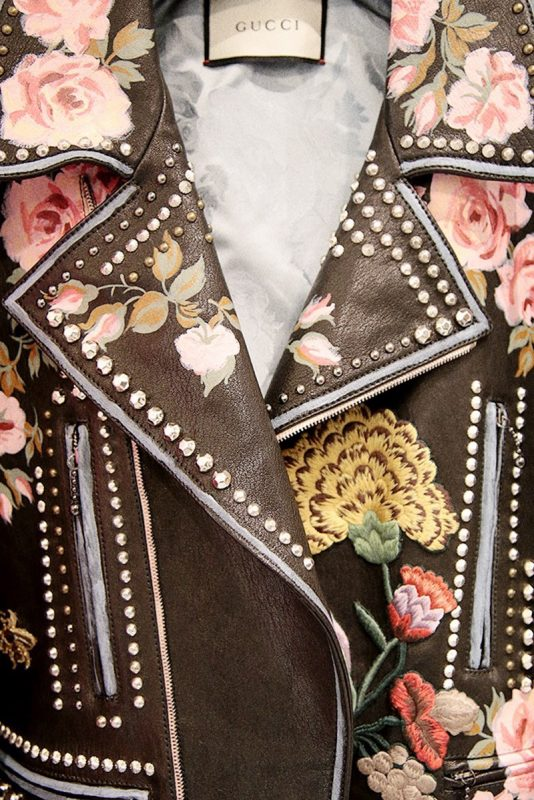 Gucci Hand-Painted Leather Biker Jacket 7