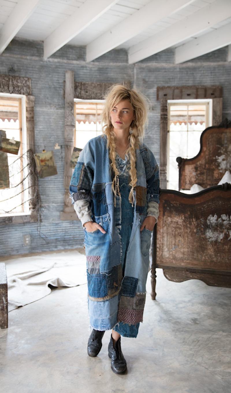 patchwork denim jacket diy idea inspiration recycle upcycle