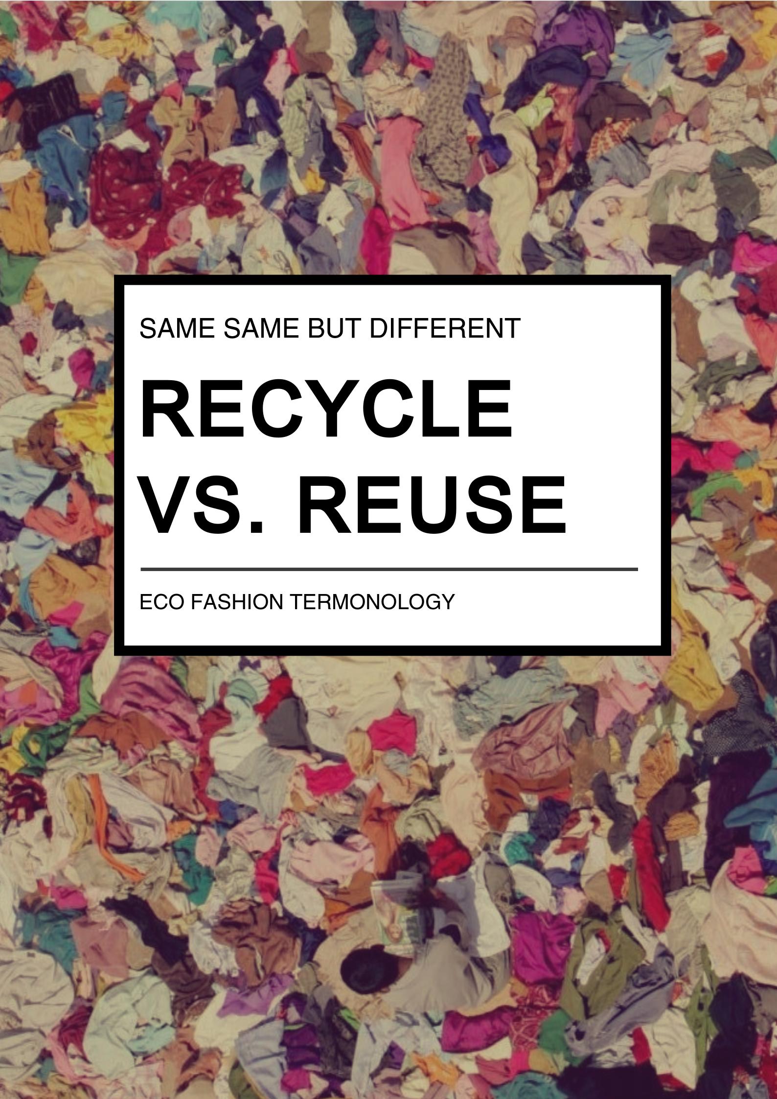 kierrätys uudelleenkäyttö uusiokäyttö reuse recycle sanasto termit terminologia määritelmä
